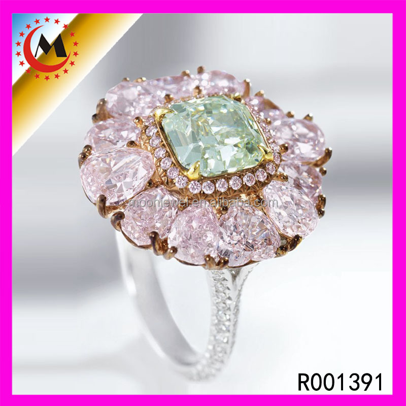 Costume Jewellery Costume Flower Finger Rings Opal Flower 925 Ring