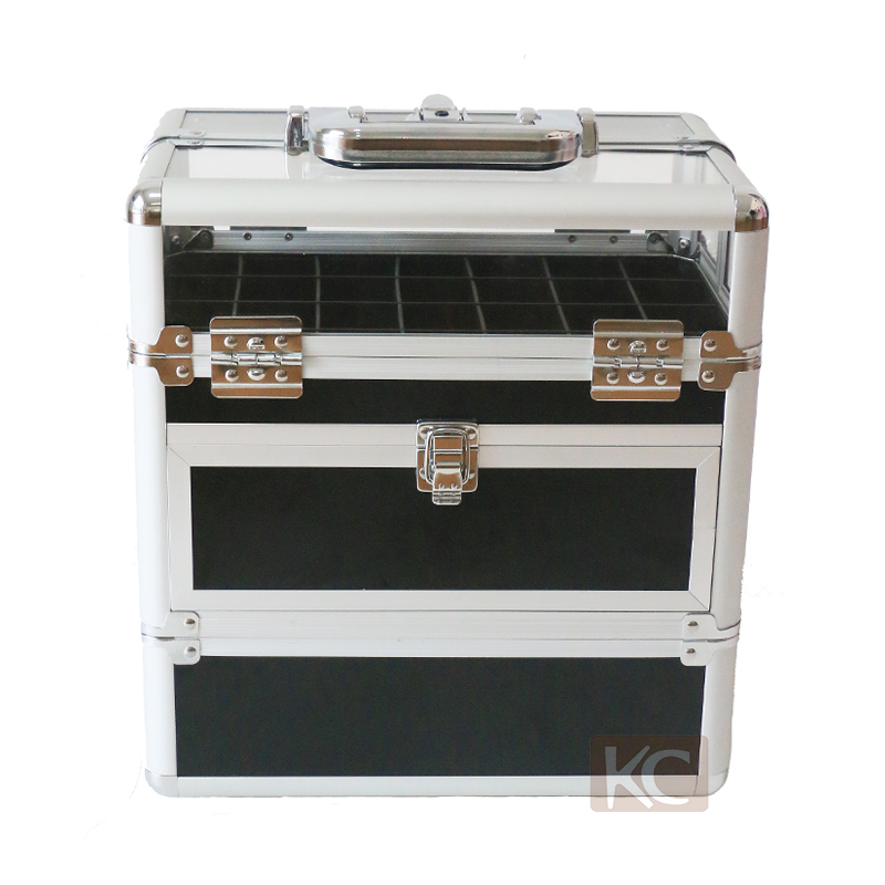 Professional 2 in 1 aluminum nail polish beauty case