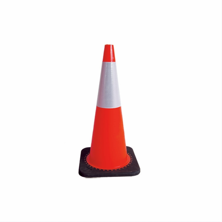 Cone flexível do tráfego do PVC da segurança do Roadwork / Worksite de 700MM