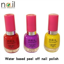 2015 Newest Thorn Bird water based peel off nail polish