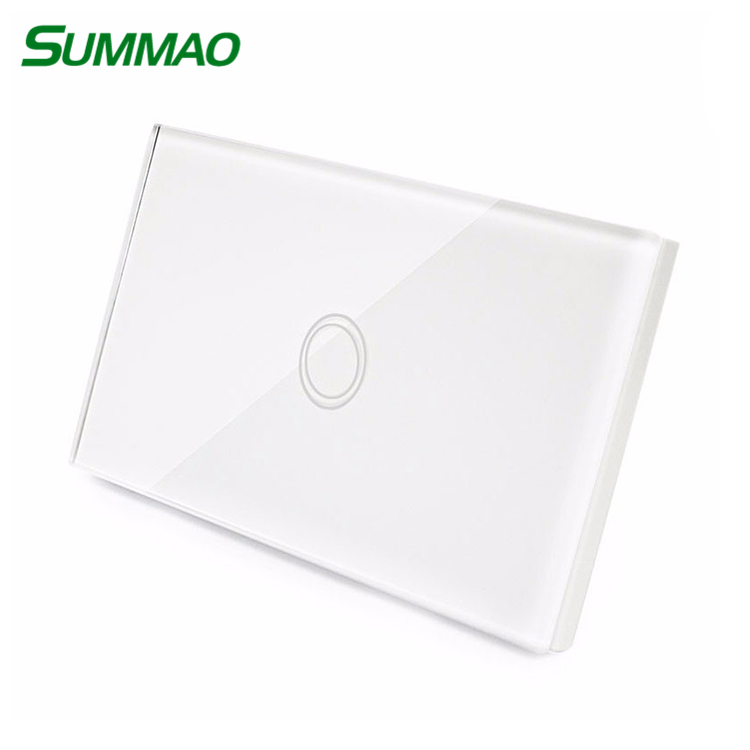 1 gang 1 way  unique design electronic us standard 120 size wall mount smart touch switch