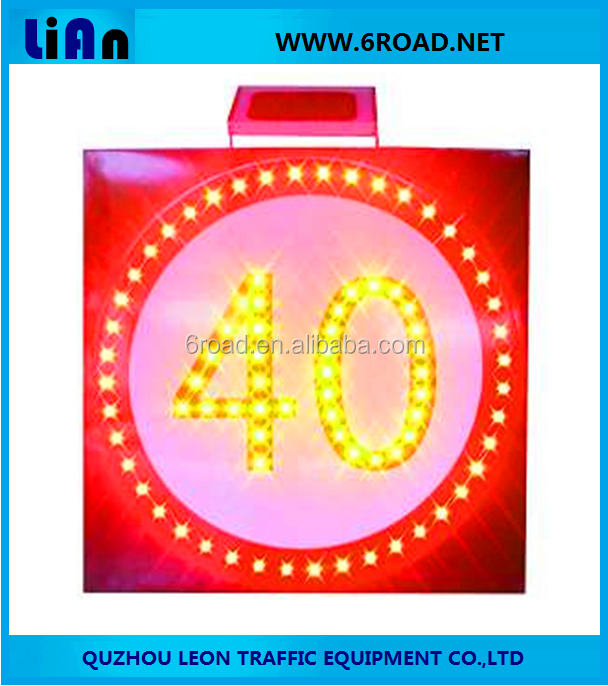 LED Solar Traffic Signs Speed Limit 40KM/H