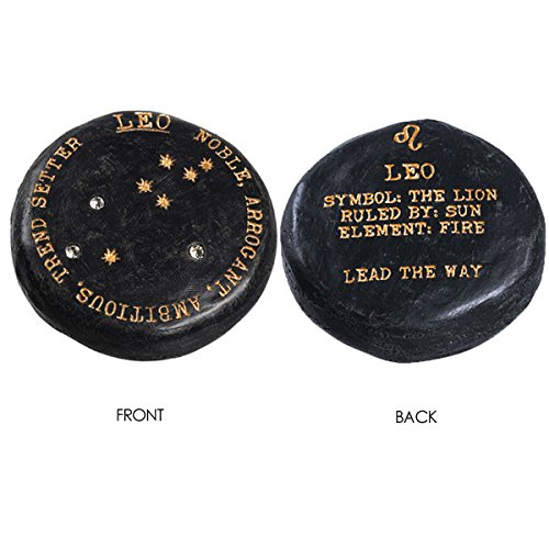 Leo the Lion Lucky Zodiac Signs Black Cement Garden Stone 2.25 Constellation Planet and Element