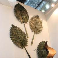 promotion wholesale high quality home decor leaf metal wall art