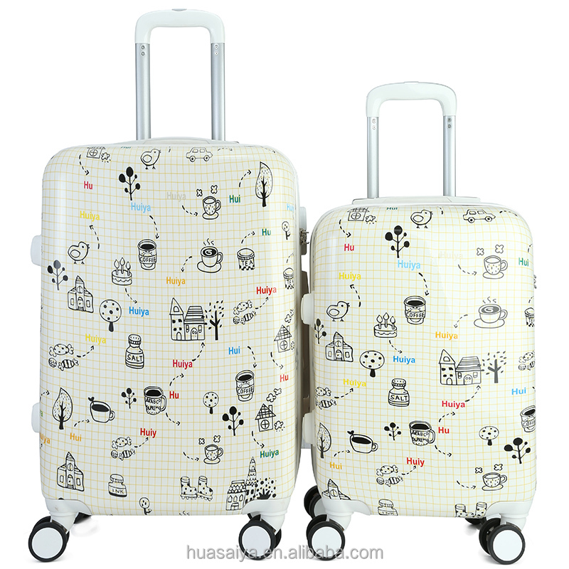 New Product Cartoon Characters Luggage With Matching Piping And Handle Trolley system