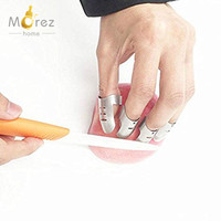 Morezhome high quality 3pcs standard and 1pcs thumb Stainless Steel Adjustable Hand Guard Finger Protector