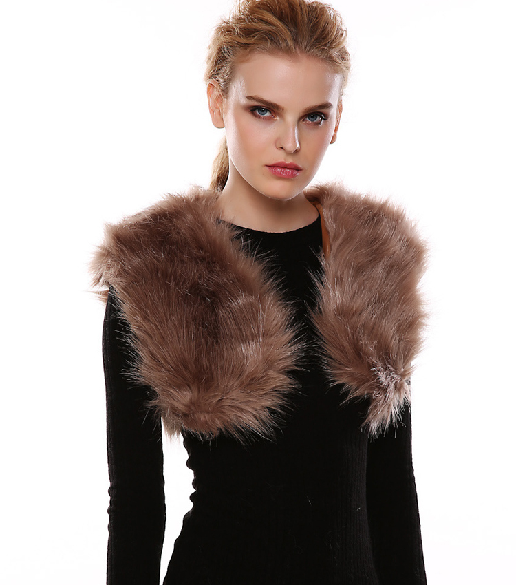 1a37d2dedc9 Get Quotations · Black Vest Women Rabbit Faux Fur Gilet Femme Winter Short  Sleeveless Vest Outwear Casual Top Roupa