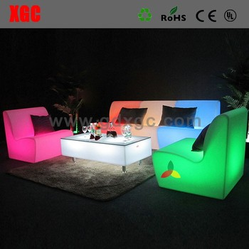 Led Light Up Chaise Lounge Sectional Sofa,Cheap Lounge Sofa Set ...