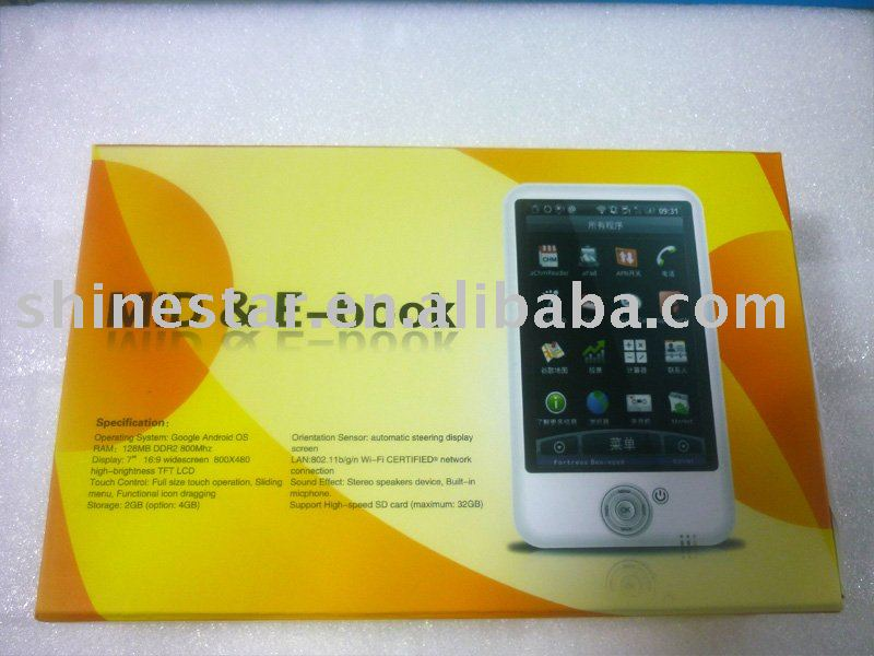 7 inch MID & E-Book with touchscreen & wifi