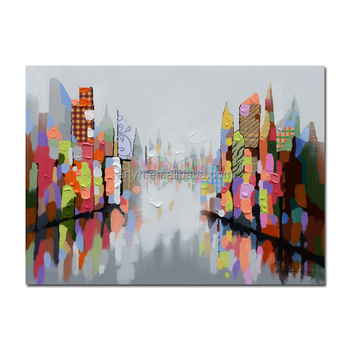 Wholesale abstract painting picture of colorful Cityscape