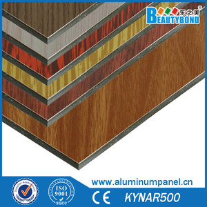 Wooden color acp aluminium plastic composite panel flexible building materials