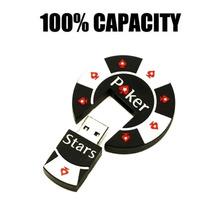 Hot Sell High Speed Poker Face USB Flash Drives USB 2.0 Pen Drive 32GB/16GB/8GB/4GB pendrives U disk