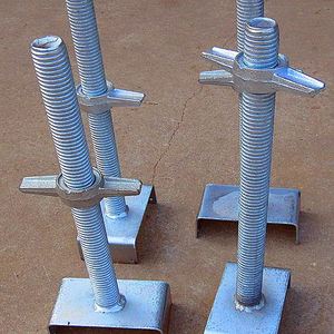 scaffolding adjustable screw base jack / U-head jack base with best Quality