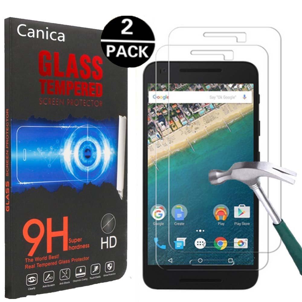 Nexus 5X Screen Protector,LG Google Nexus 5X Screen Protector,Canica Google Nexus 5X Tempered Glass Screen Protector for Nexus 5X (2 Pack)