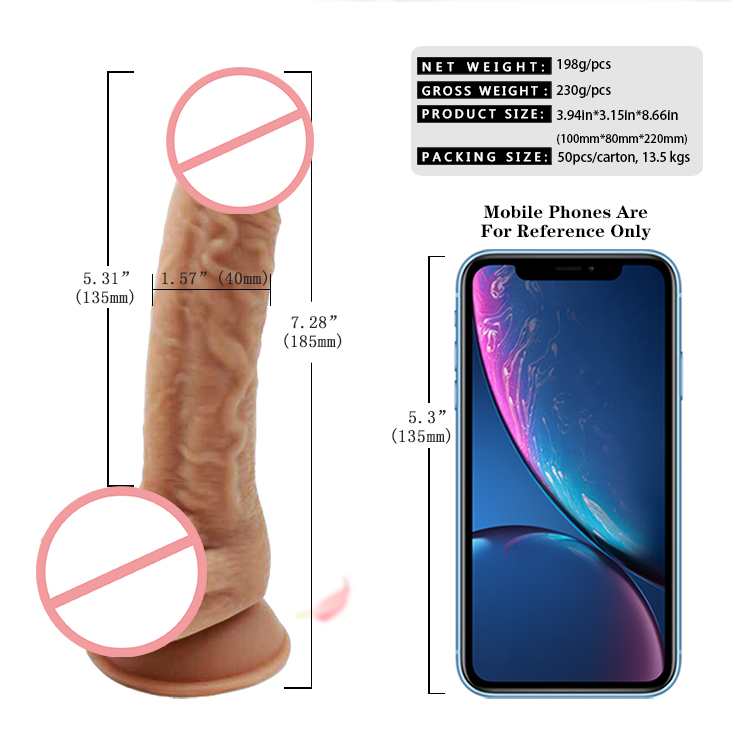 Free Sample Product Strap On Artificial Realistic Silicone Penis Big Soft Plastic Dildo for Women Adult Sex Toys