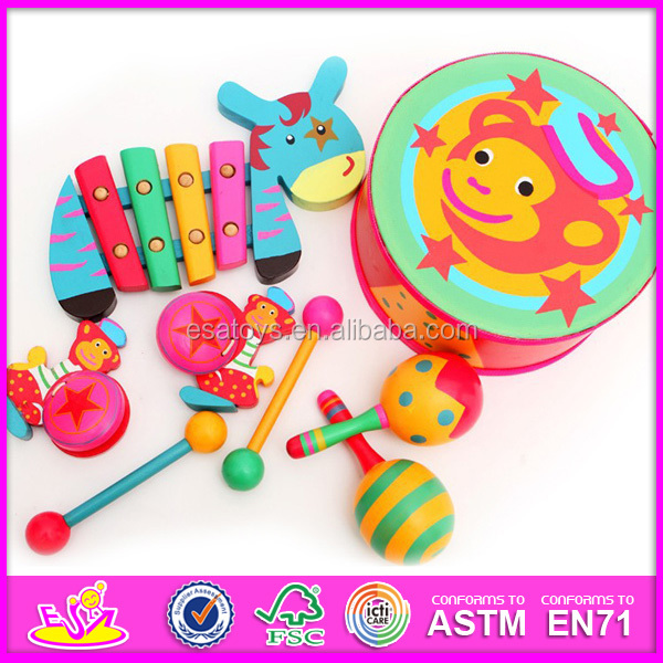 2015 newest wooden musical instruments for baby,hottest instrument music toy for child W07A073-1