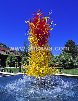 BLOWN GLASS GARDEN ART