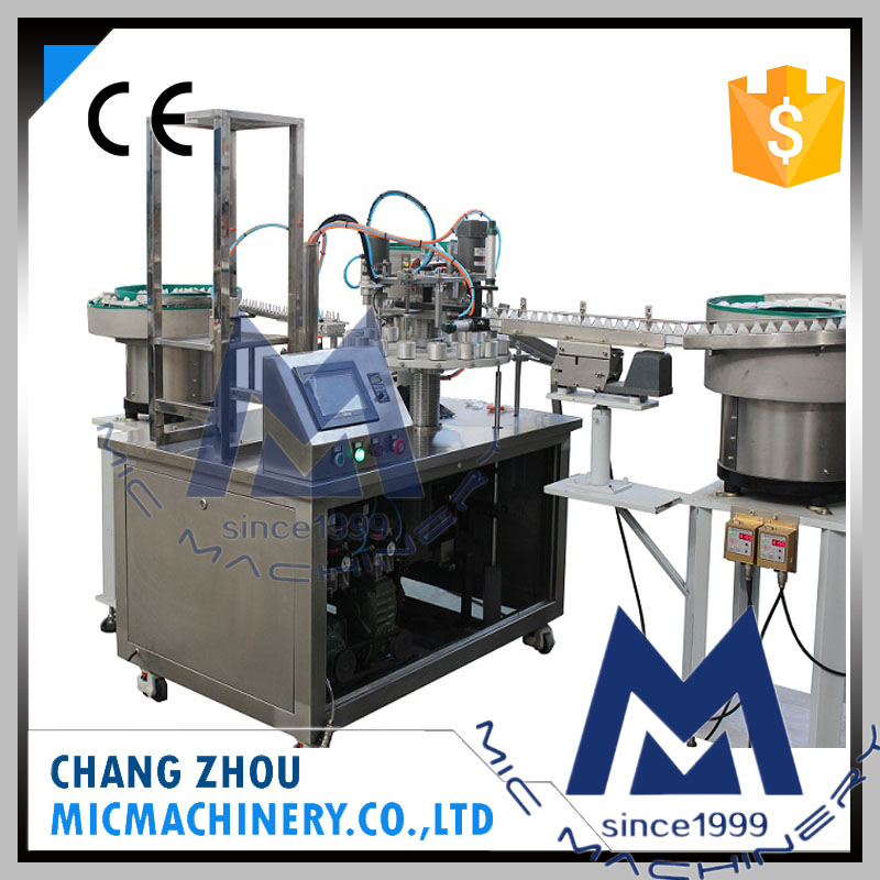 China professional manufacturer high speed 60 bpm automatic plastic bottle acrylic glue liquid filling machine with CE MIC-L40