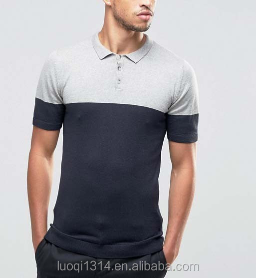 f5daa650 China Factory Luoqi Ribbing Collar Pique Cotton Plain Men Custom Design  Color Combination Polo T Shirt