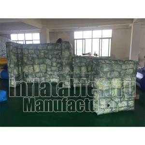 best factory manufacturer camouflage cheap paintball inflatable wall bunker/inflatable paintball wall