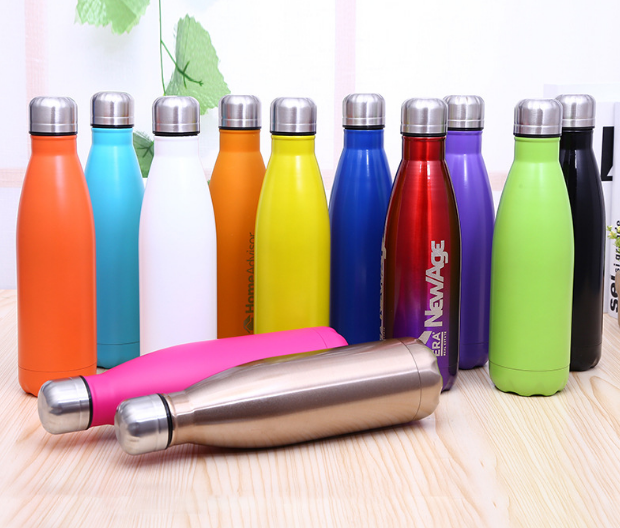Outdoor Sports Cartoon Stainless Steel Flask Water Bottle