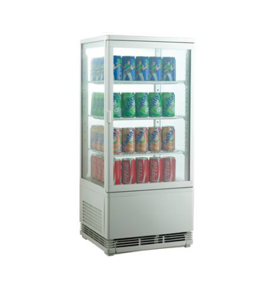 100L to 600L Commercial Countertop Beverage Cooler Four Side Glass Display Showcase Refrigerator