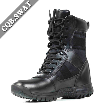 8bd9ad66a41d Army Military Mens Formal Genuine Leather Police High Ankle Boots ...