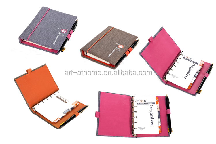 Promotional Multi-functional Handmade Linen Spiral Journal Notebook ( 107035211/2 )