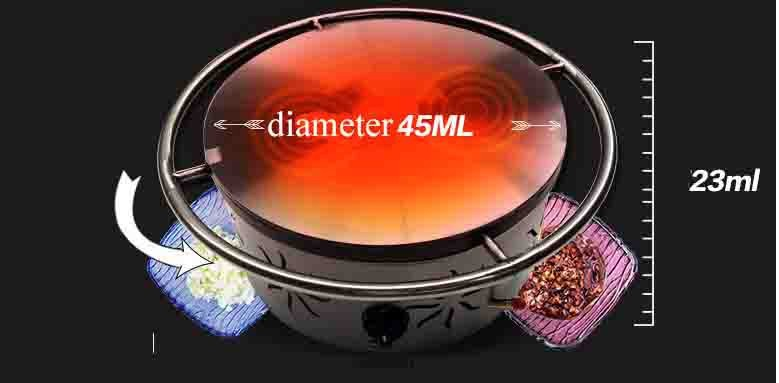 Low Price Gas Heat 1 Head Rotate Non-Stick Cookware Rotating Crepe Maker machine