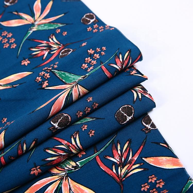 新ファッションデザイン 100 パーセントレーヨンビスコース生地無地生地レーヨン織布印刷生地良質