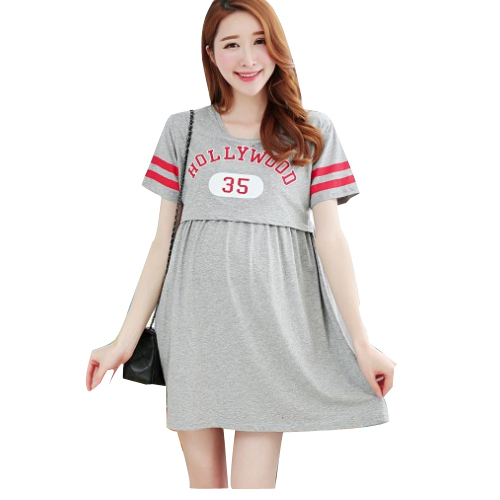 57a34a77794f9 Get Quotations · Summer Maternity Nursing Dress Mothers Breastfeeding  Dresses Pregnant Women Nightgown Sleepwear Clothing Feeding Pajamas Clothes