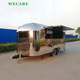 Stainless steel mobile kitchen fast food trailer for bbq churros