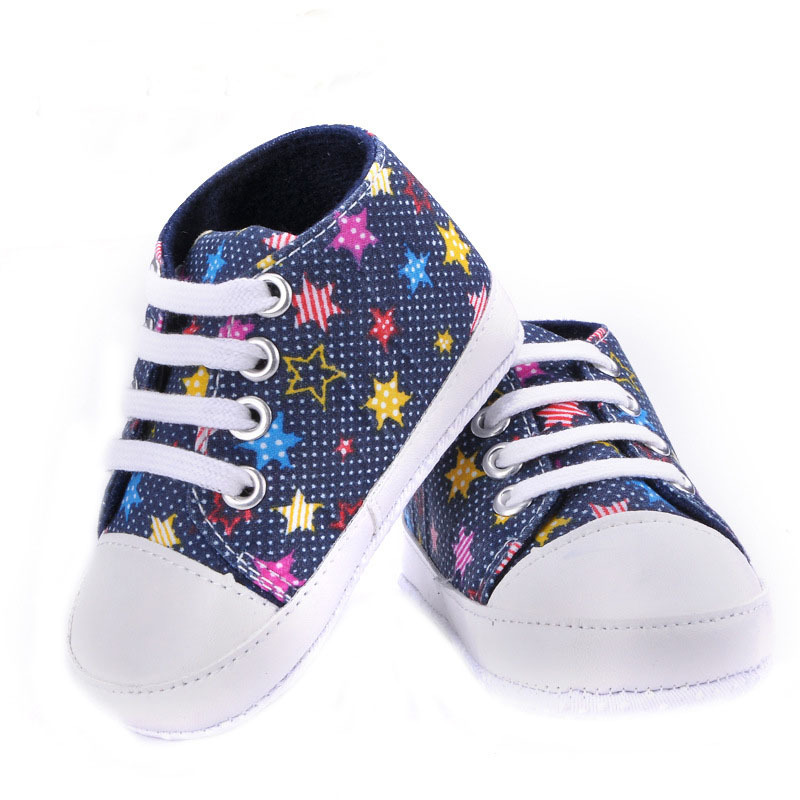7cc28895af311 Buy 1Pair Fashion Infant Newborn Canvas Rubber Star Casual Baby Girls Boys  First Walkers Bebe Shoes Boots Sneakers Chaussure Fille in Cheap Price on  ...