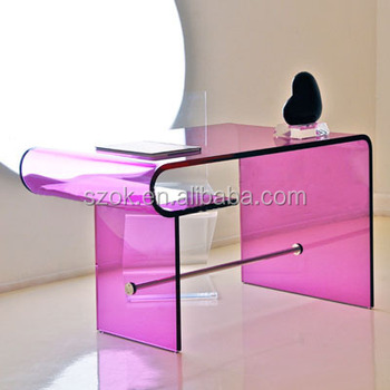 Elegant Bent Home Furniture Colored Acrylic Coffee Table