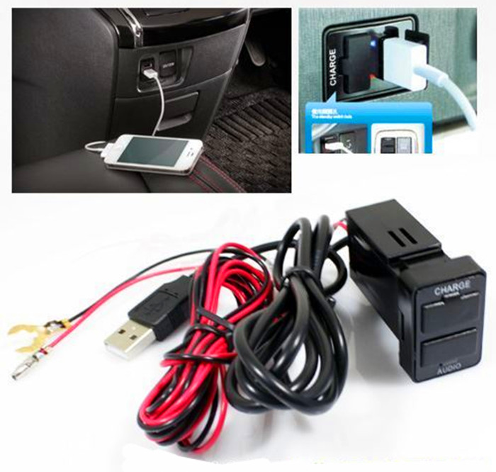 mobile phone 5V2.1A dual USB quick TOYOTA car charger