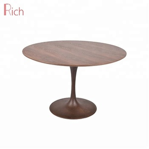 Factory Wholesale Oval Marble Top Table Luxury Iron Base MDF Dining Table With Copper Color
