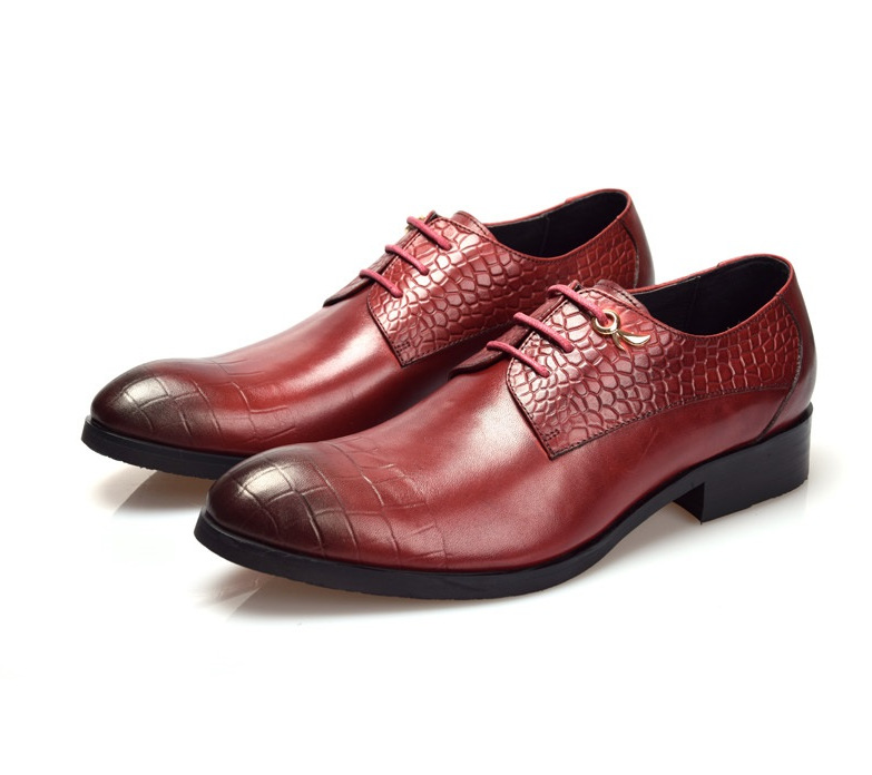 2017 Comfortable Black Brown Derby Shoes Mens Dress Genuine Leather Office Business Fashion Wedding In Price On