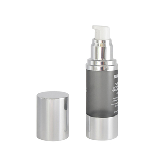 high end 30 ml empty cosmetic packaging airless pump bottle with sliver aluminum pump