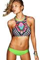 2016 New Fashion Women Print Sexy Patchwork Push up Bikini Set Retro Swimsuit Brazilian Swimwear Beach