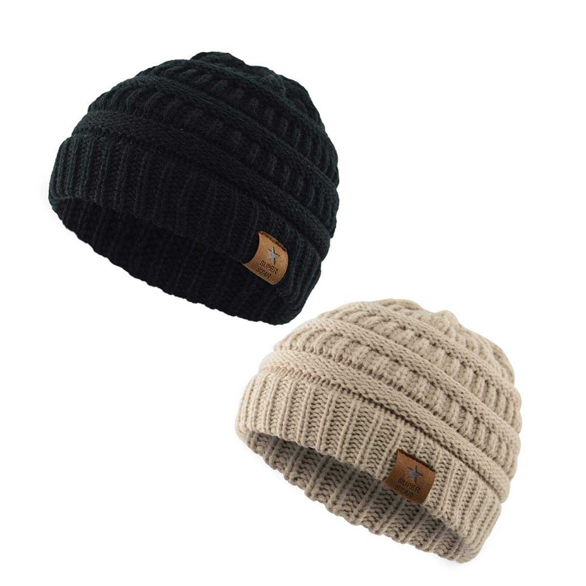 c98442343c0 Get Quotations · Baby Kids Knit Winter Warm Hats Boy Girl Infant Toddler  Children s Beanie Caps