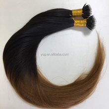 Real Phone Picture Factory Support Custom Order Virgin Tape hair Nano Ring Hair and other Pre-bonded hair extensions
