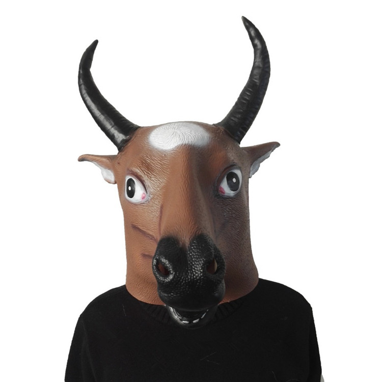 Creepy animal Full face Cattle head Silicone Mask