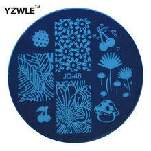 Yzwle 1 Pcs chapa de aço inoxidável Stamp estamparia imagem placas DIY Manicure Template prego ferramentas polonês ( JQ-46 )