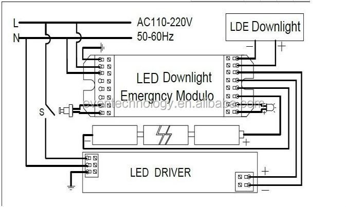 led emergency light kit dc 12v  24v output voltage emergency mode