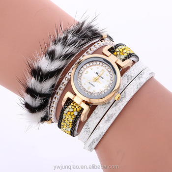 Popular Women Leather Bracelet Wrap Wrist Watches Ladies Elegance Fashion Watches Trendy Buy Fashion Vogue Ladies Watch Elegance Fashion