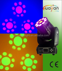 New design 2in1 Mini Stage Light 75W Spot & 9pcs 6in1 RGBWAUV Wash LED Moving Head for Party