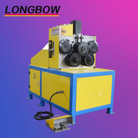 Angle flange rolling machine , Mechanical flat bar roll bending machine