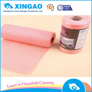 lightweight disposable dish cloth/non woven wiper/coloured multi-purpose cleaning cloths