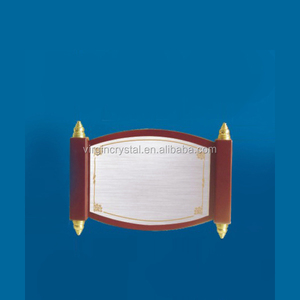 New scroll design blank wooden award plaques for sale