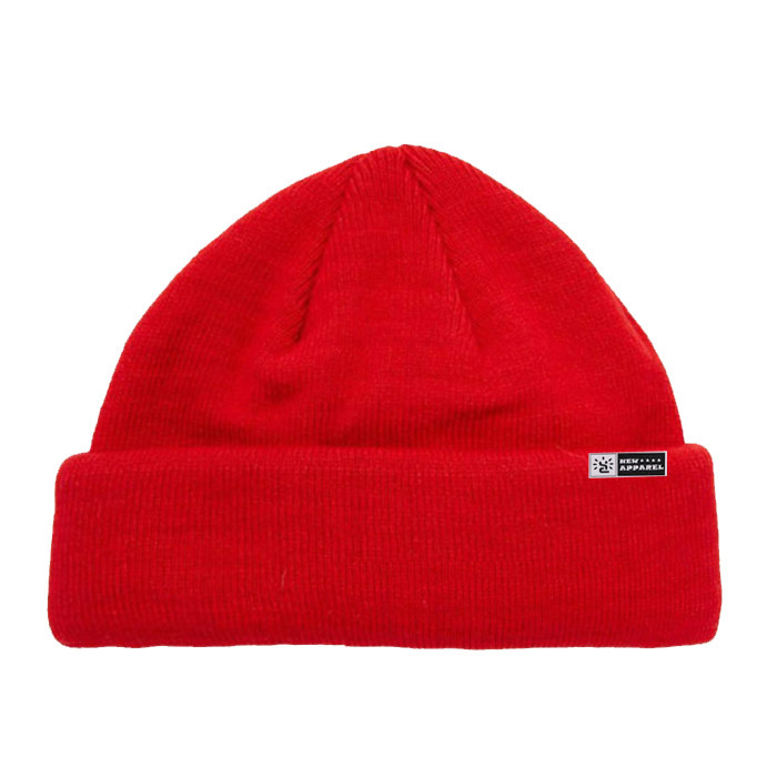 High Quality Red Wool Cable Knit Beanie Hat Custom Winter Hats Fisherman Beanie